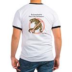 Cowboys logo & Don't Dig Dino Ringer T