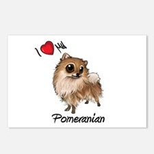 I Heart Love My Pom Postcards (Package of 8)