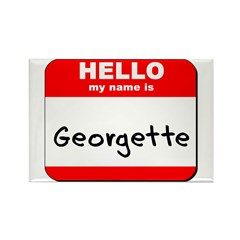 Hello my name is Georgette Rectangle Magnet (10 pa