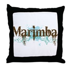 Cool Marimba Throw Pillow