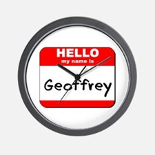 Hello my name is Geoffrey Wall Clock