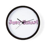 Just Scrap Wall Clock