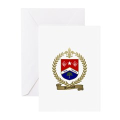 BLANCHARD Family Crest Greeting Cards (Package of