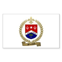 BLANCHARD Family Crest Rectangle Decal