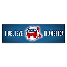 """""""I Believe in America"""" Bumper Bumper Sticker"""