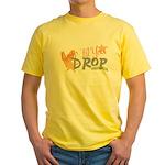 Crop til you drop Yellow T-Shirt