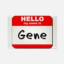 Hello my name is Gene Rectangle Magnet