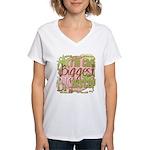 Biggest Big Sister Women's V-Neck T-Shirt