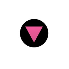 Pink Triangle Mini Button (10 pack)