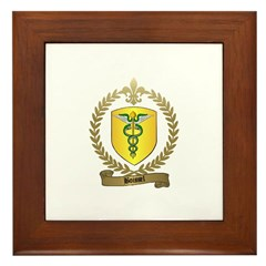BOISSEL Family Crest Framed Tile