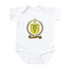 BOISSEL Family Crest Infant Creeper