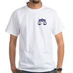 Mason Justice Under the Law White T-Shirt