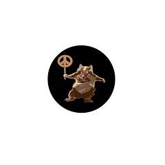 Peace Hamster Mini Button (10 pack)