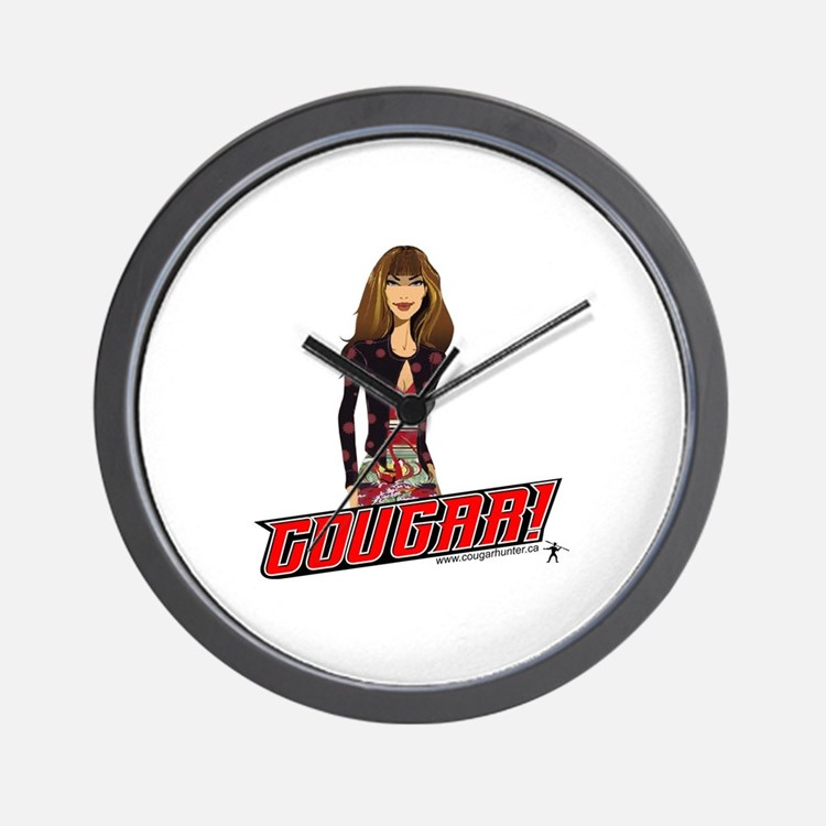 Sultry Cougar Wall Clock