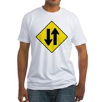 Two Way Traffic Fitted T-Shirt