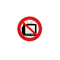 Anti-TV Mini Button (100 pack)