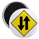 """Two-Way Traffic Sign - 2.25"""" Magnet (10 pack)"""