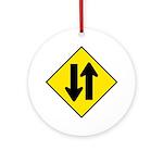 Two-Way Traffic Sign - Keepsake (Round)
