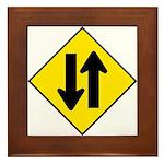 Two-Way Traffic Sign - Framed Tile