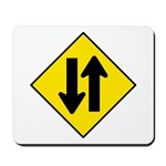 Two-Way Traffic Sign - Mousepad