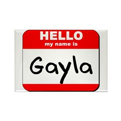 Hello my name is Gayla Rectangle Magnet (10 pack)