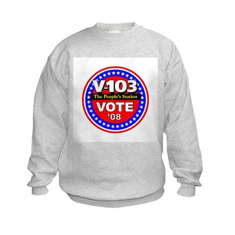 V-103 VOTE 08 Kids Sweatshirt