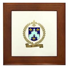 BROSSEAU Family Crest Framed Tile