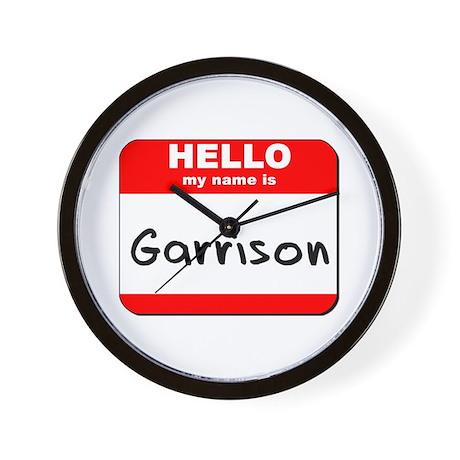 Hello my name is Garrison Wall Clock