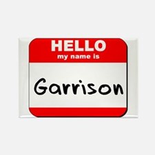 Hello my name is Garrison Rectangle Magnet