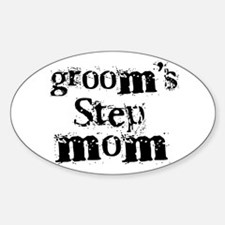 Groom's Step Mom Oval Decal