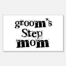 Groom's Step Mom Rectangle Decal