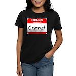 Hello my name is Garret Women's Dark T-Shirt
