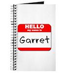 Hello my name is Garret Journal