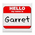 Hello my name is Garret Tile Coaster