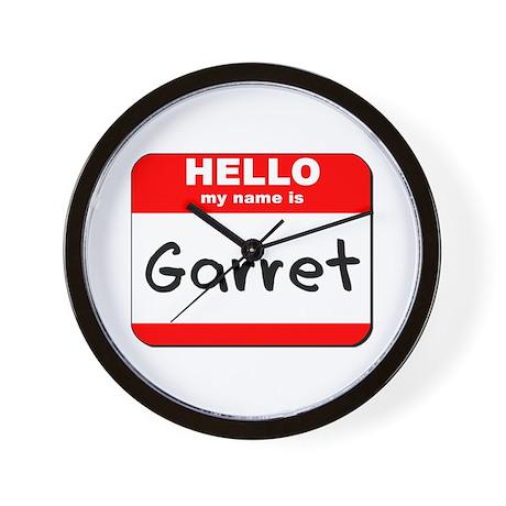 Hello my name is Garret Wall Clock
