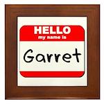 Hello my name is Garret Framed Tile