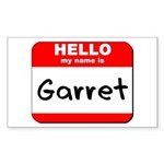 Hello my name is Garret Rectangle Sticker