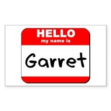 Hello my name is Garret Rectangle Decal
