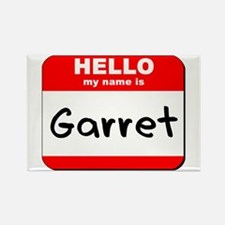 Hello my name is Garret Rectangle Magnet
