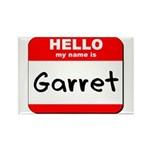 Hello my name is Garret Rectangle Magnet (10 pack)