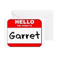 Hello my name is Garret Greeting Card