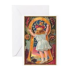 Little Girl Halloween Greeting Card