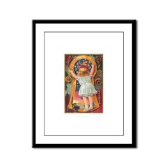 Little Girl Halloween Framed Panel Print