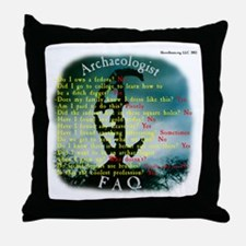 Copan, Honduras - Archaeologist FAQ Throw Pillow
