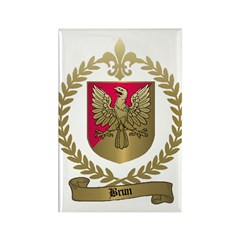 BRUN Family Crest Rectangle Magnet (100 pack)