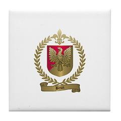 BRUN Family Crest Tile Coaster