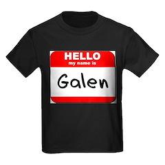 Hello my name is Galen Kids Dark T-Shirt