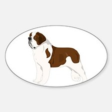 Saint Bernard Oval Sticker (10 pk)