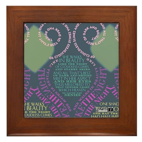 She Walks in Beauty 3 Framed Tile