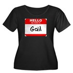 Hello my name is Gail Women's Plus Size Scoop Neck